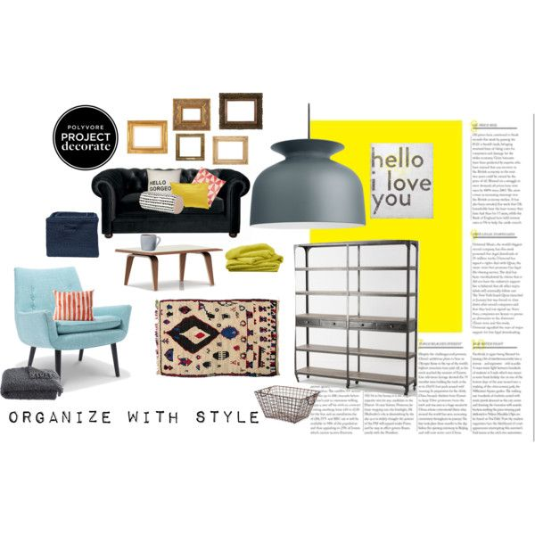 """""""Project Decorate-Organize with Style"""" by girlstalktoboys on Polyvore"""