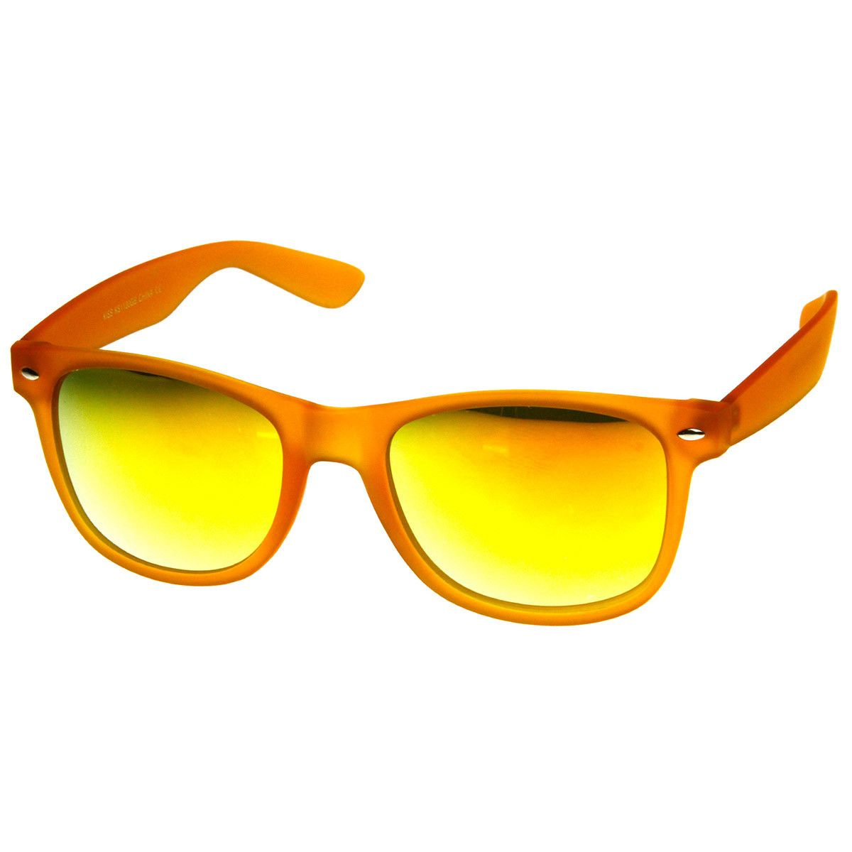 1eebae94cea Color Frosted Soft Finish Color Mirror Lens Horn Rimmed Sunglasses ...