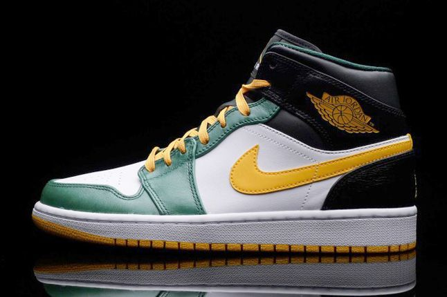 half off 2e974 18462 Air Jordan 1 Retro Mid - Supersonics