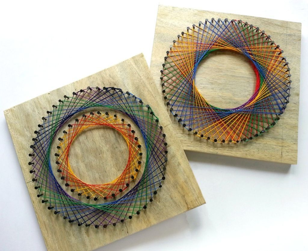 Handmade ornament ideas: How to DIY 3D panels from threads | DIY is FUN