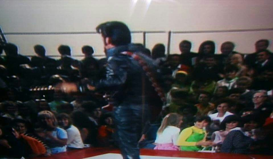 Elvis - '68 Special - Priscilla in the audience - upper right corner between the two men. - TCB⚡with TLC⚡