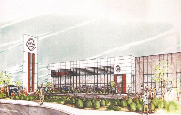 A Drawing Of A Nissan Dealership In Ocala Florida Porsche Dealership Ocala Dealership