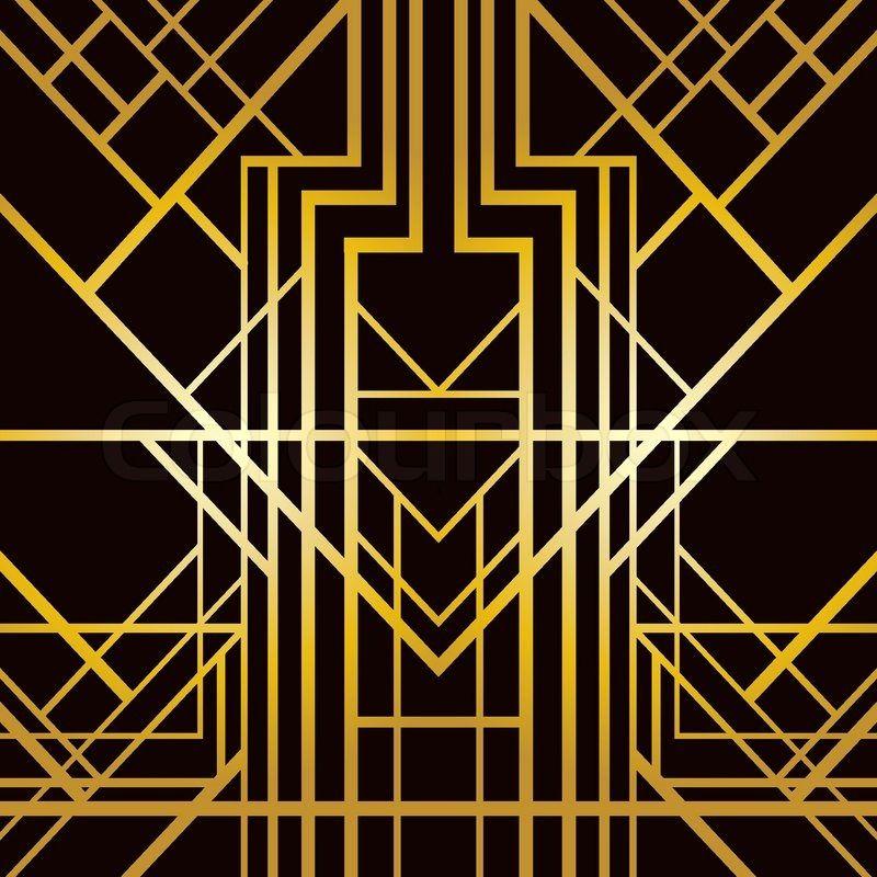 Art Deco Patterns: Art Deco Geometric Pattern (1920's Style