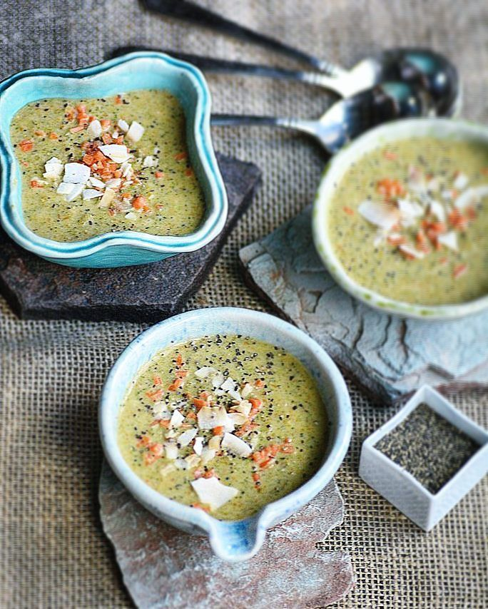 Broccoli Carrot Coconut Ginger Soup... a sipping starter at dinner.  #foodstyling allyskitchen.com #foodphotography #soup #foodinspiration #healthyeating #healthyfood #foodiesofinstagram