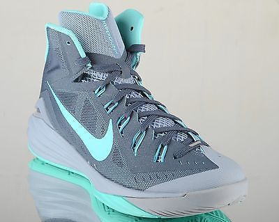 competitive price e923c b298d Nike Hyperdunk 2014 mens lunar basketball shoes NEW dark magnet grey  turquoise