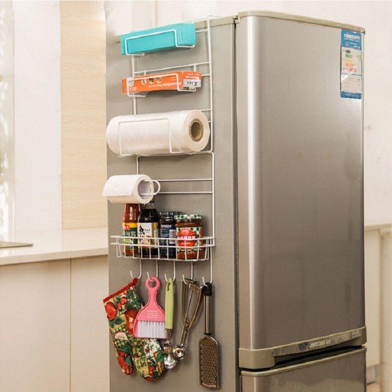 cheap kitchen storage island table rack accessories shelf organizer prateleira multi layer refrigerator estante fridge side racks sidewall