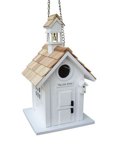 Take A Look At This White Little Schoolhouse Birdhouse By Home