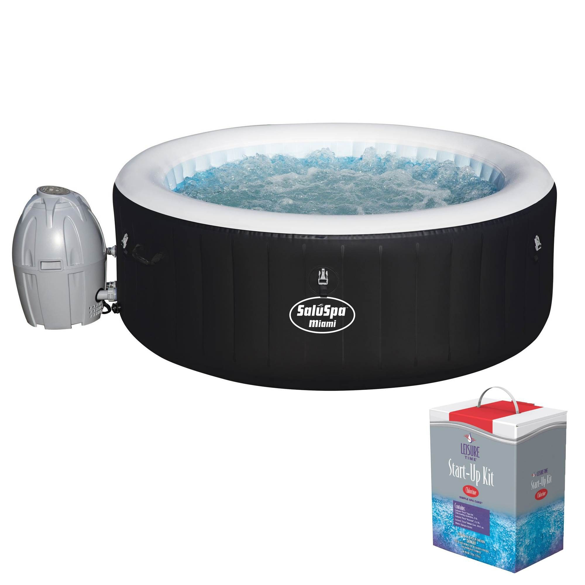 Bestway Saluspa Inflatable Hot Tub Spa Jacuzzi With Full Chlorine