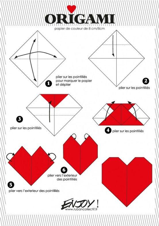 Origami coeur cards pinterest origami coeur origami et coeur - Origami boite coeur ...