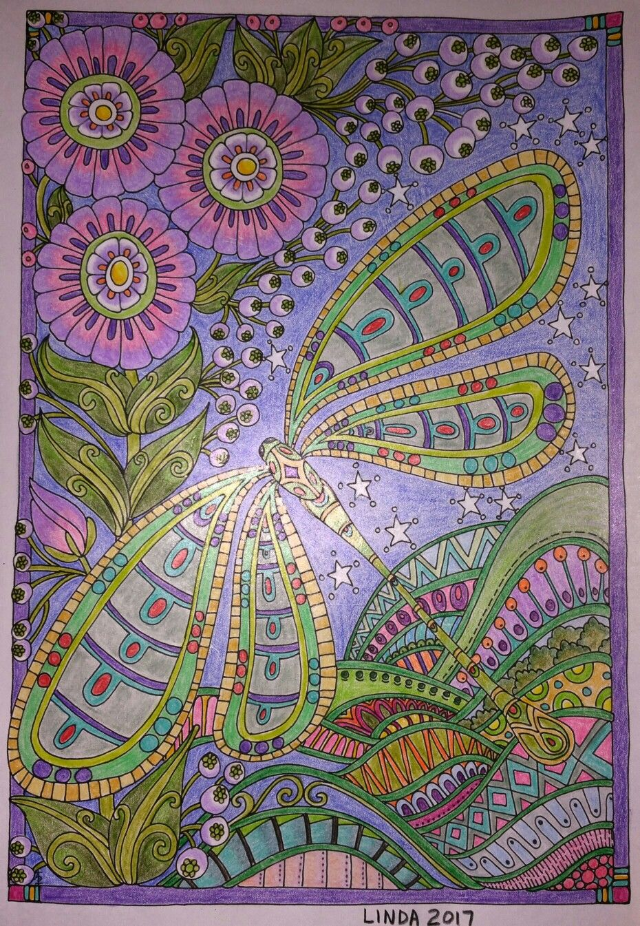 colored by Linda Koenig   Adult coloring pages, finished   Pinterest ...