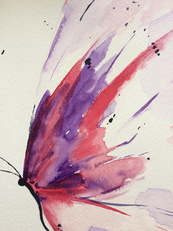 Painting Of A Butterfly Made With Watercolor Paint The Dimensions