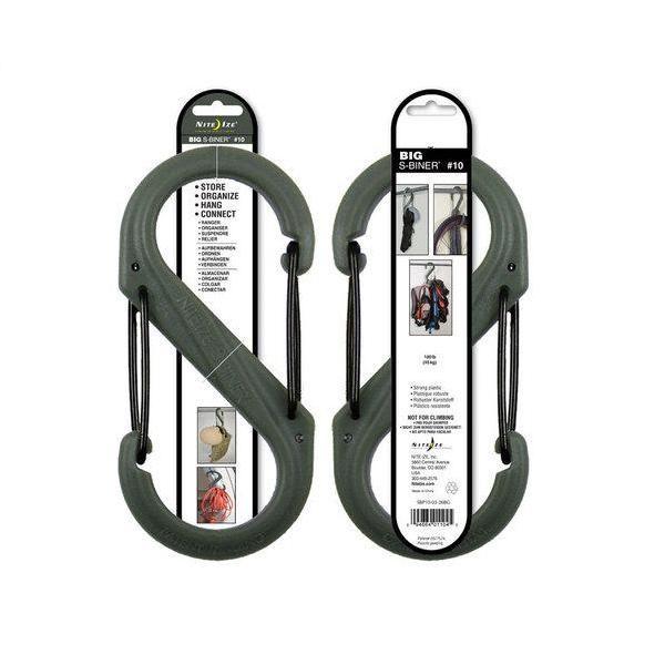 S-Biner Plastic Size #10, Foliage/Black Gates. $6.55