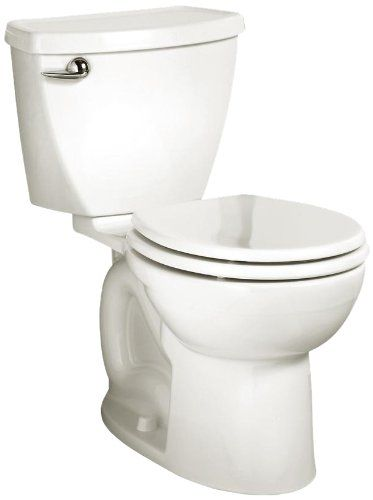 American Standard Cadet 3 Round Front Flowise Two Piece High Efficiency Toilet With 12 Inch Rough In White White American Standard Toilet Restroom Fixtures