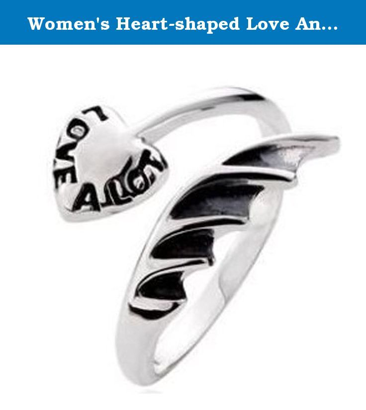Women's Heart-shaped Love Angel Wings Ring 925 Sterling Silver Adjustable. Ring Never fade Condition: Brand New Thai silver jewelry after burning process LAN, to rustic style, Matt, old, old style, are fashion's favorite family. From the silver content in Thailand is 92.5% silver, and silver different brightness of the former are higher, sewing. These ornaments are mostly used at the end of the thirteenth Century the simple art, with special skills to refine, to obtain the color and…