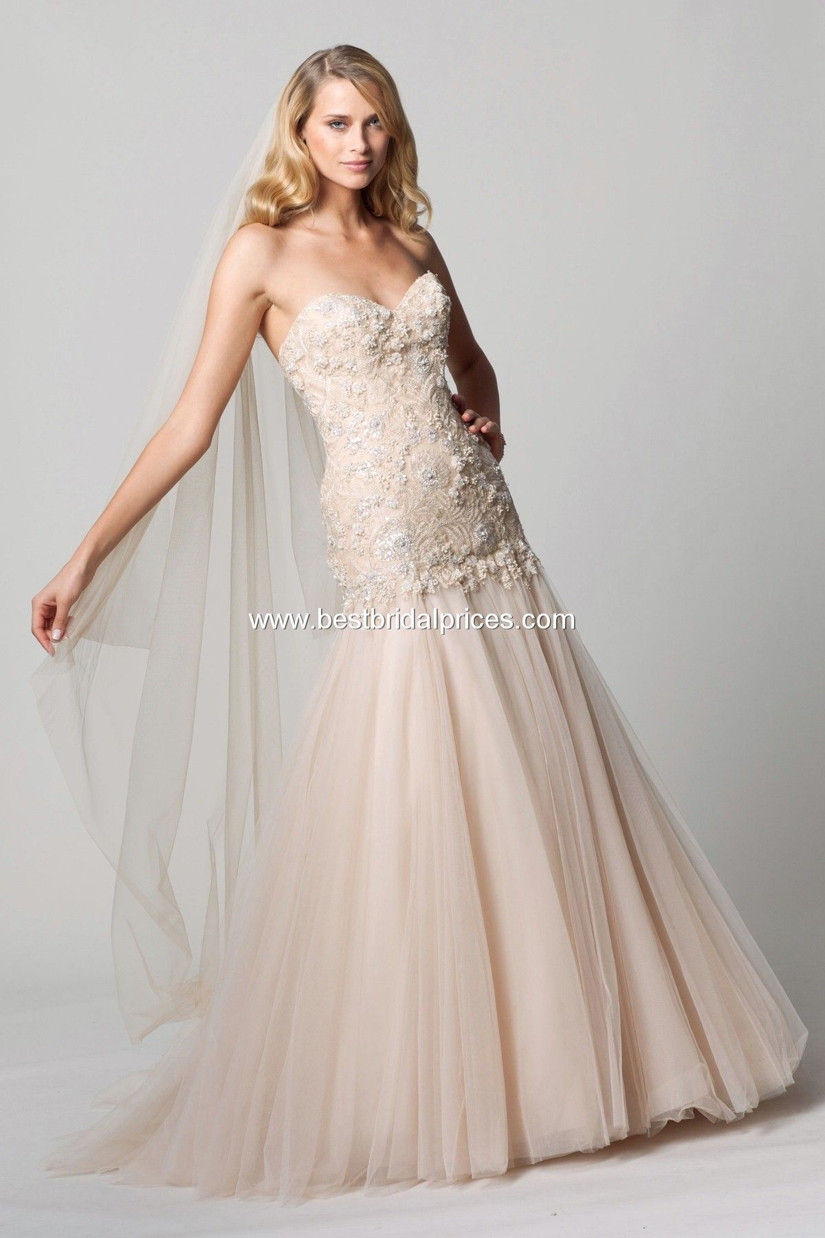 Watters and wtoo sweetheart neckline mermaid bridal gown with