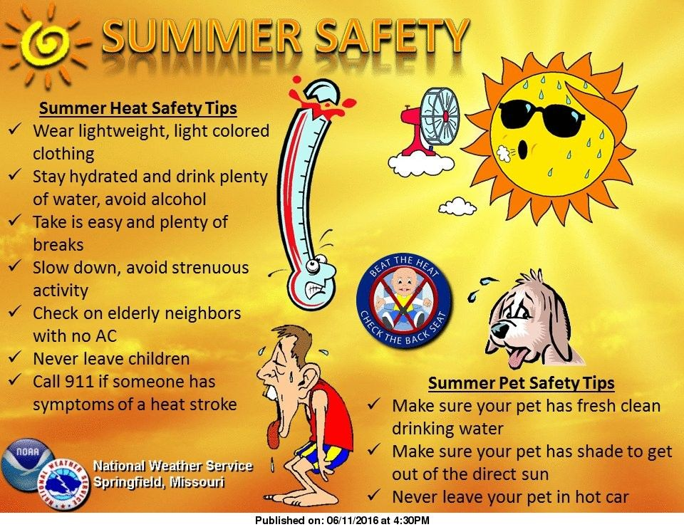Safety tips to beat the heat | Summer safety, Summer safety tips, Safety  slogans
