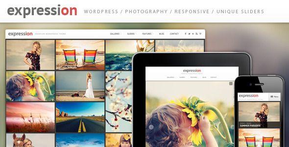 """Tema """"Expression"""" Responsive de Fotografías para WordPress   Las ..."""