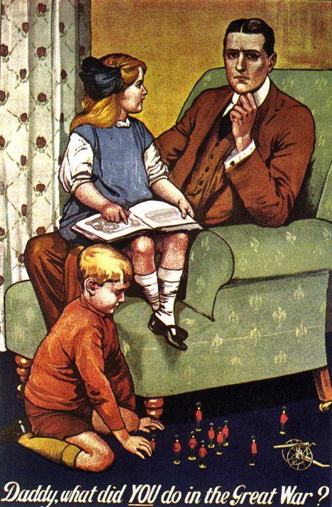 World War I British propaganda poster, designed by Savile Lumley ...