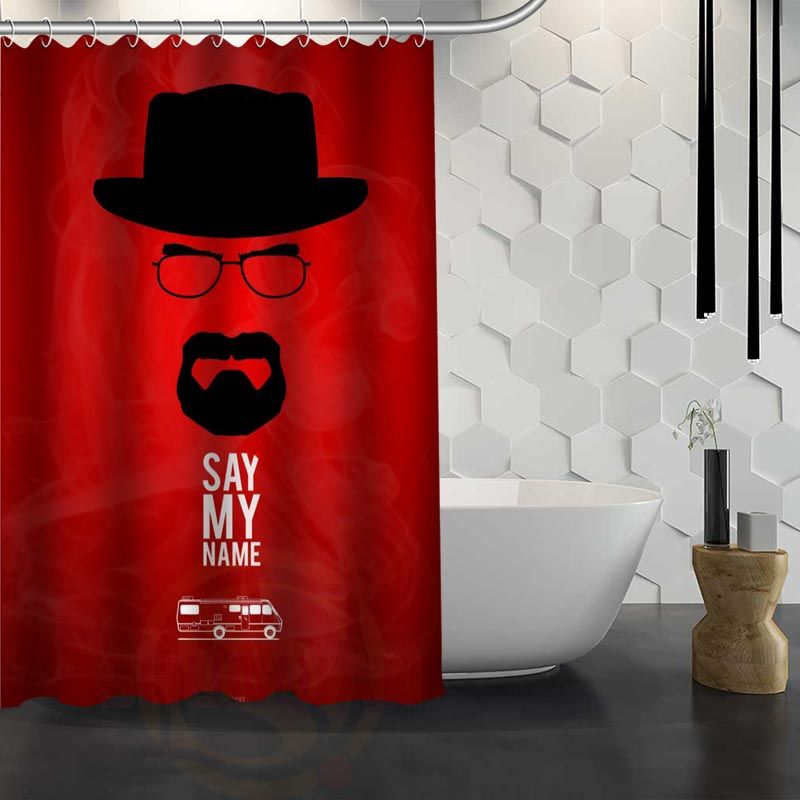Hot Sale Custom Breaking Bad Shower Curtain Waterproof Fabric For Bathroom FY1