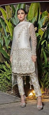 4242901c Embroidered Net Suit, Ladies Designer Replica, Online Clothes Shopping.