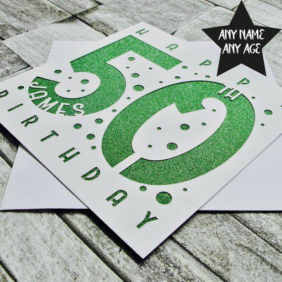 Personalised 50th Birthday Card Age 50 Card Fiftieth Birthday Card