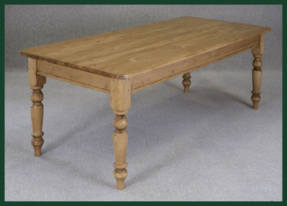 Reclaimed Pine Farmhouse Table With Tapered Legs   DIY   Pinterest    Country Kitchen Tables, Top Country And Farmhouse Table