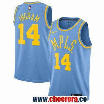 9fd0205328c Men s Nike Los Angeles Lakers  14 Brandon Ingram Royal Blue NBA Swingman  Hardwood Classics Jersey