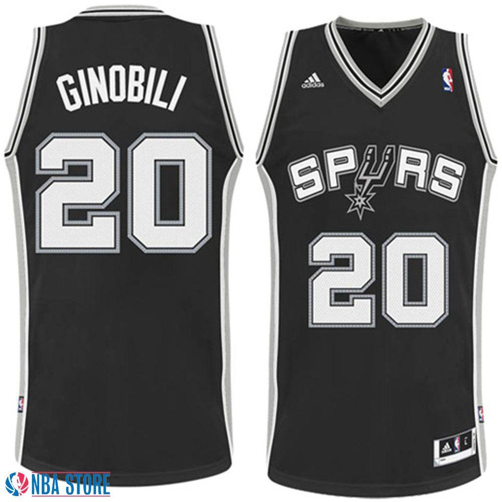 Manu Ginobili San Antonio Spurs Revolution 30 Swingman Jersey-Black ... c3b8893f4