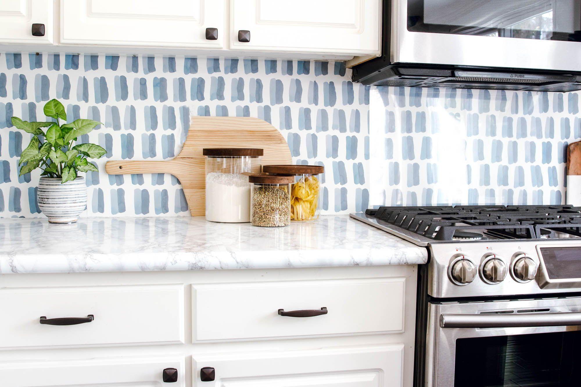 Ra At Home Anita Yokota S Kitchen Diy Backsplash Backsplash Wallpaper Diy Kitchen Backsplash