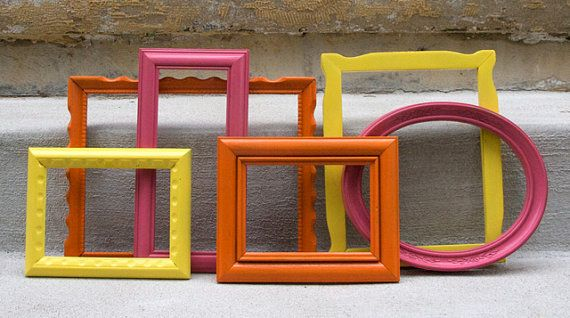 Modern Painted Picture Frames Bright Colors Inspiration For My