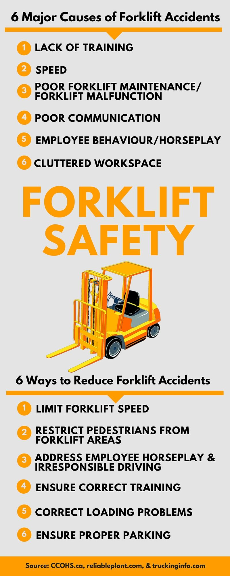 6 Major causes of forklift accidents Health and safety