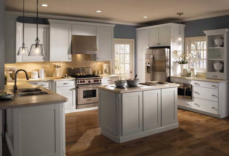 Revers color idea....maybe Painting Laminate Cabinets | 10 Photos of ...