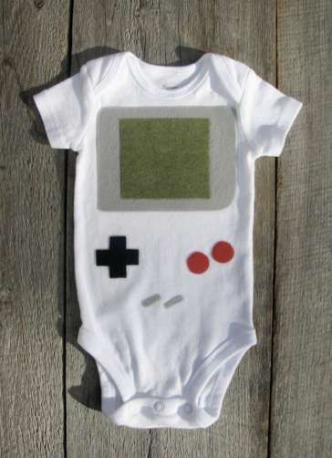 The Nintendo Gameboy Baby Clothes are Adorable and Dorky #design trendhunter.com