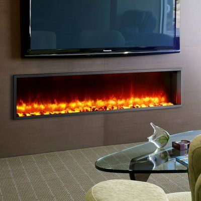Wade Logan Belden Wall Mounted Electric Fireplace Products