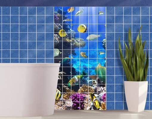 Fliesenbild Underwater Dreams #Fliesenbild #Traumurlaub #Bad