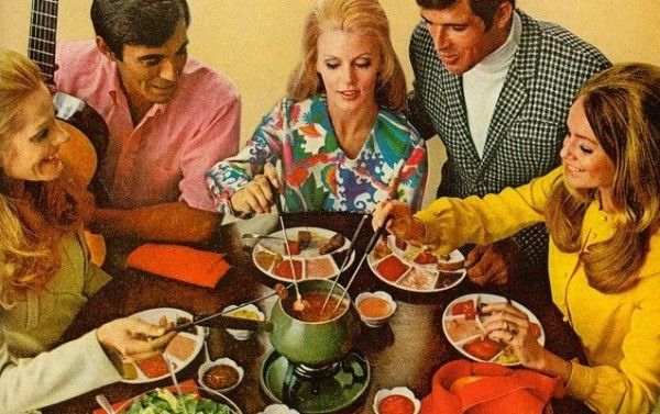 fondue party....is the key swap after dessert? | 70's ...