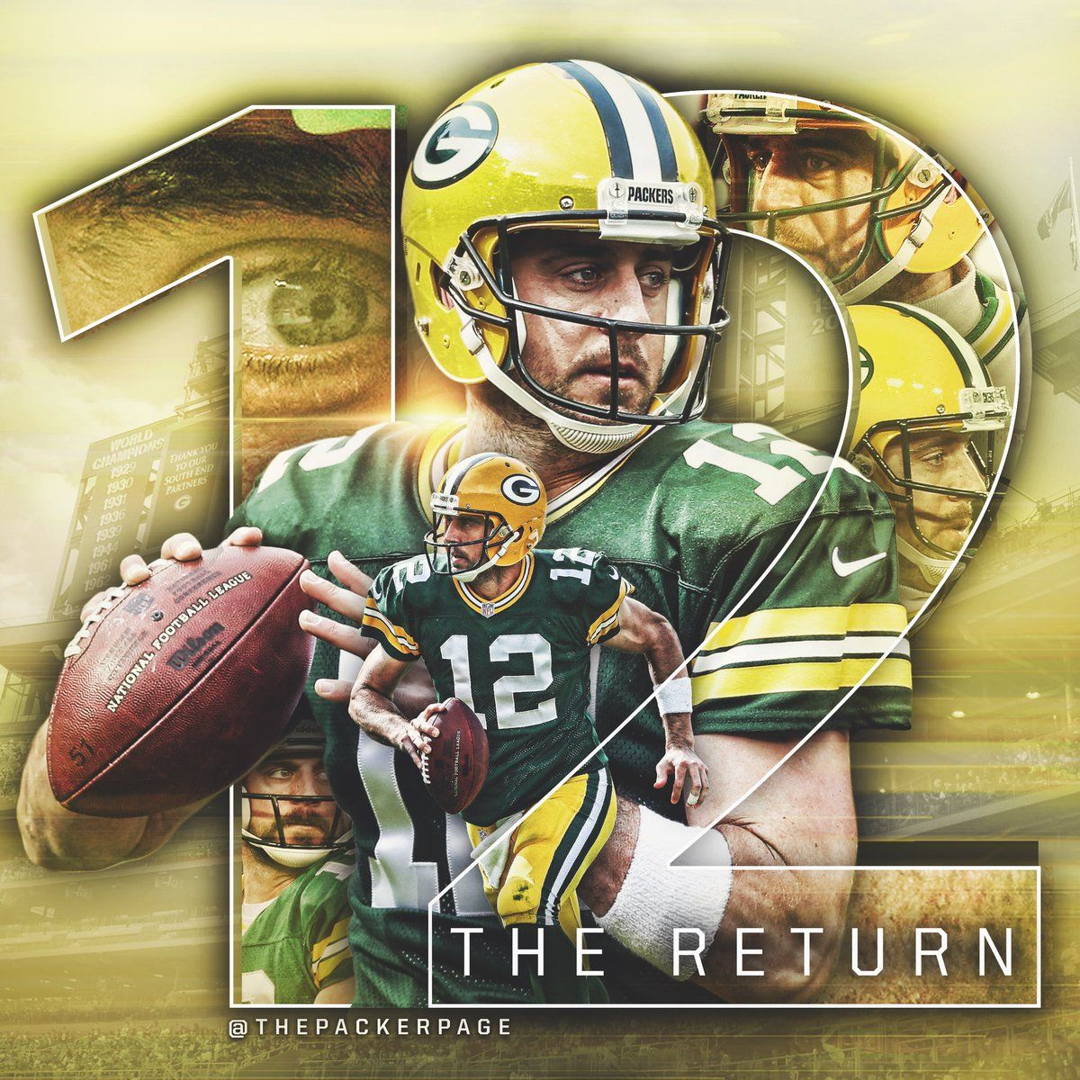 16 Twitter Packers Football Rodgers Packers Football Poster