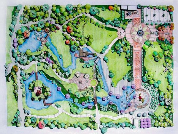 design120 landscape design layout plan of private garden of a resort style residence