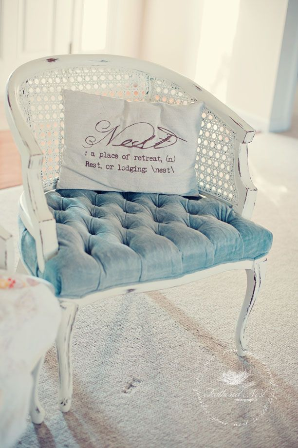 Shabby & Sweet Cane Back Chairs: A Before & After