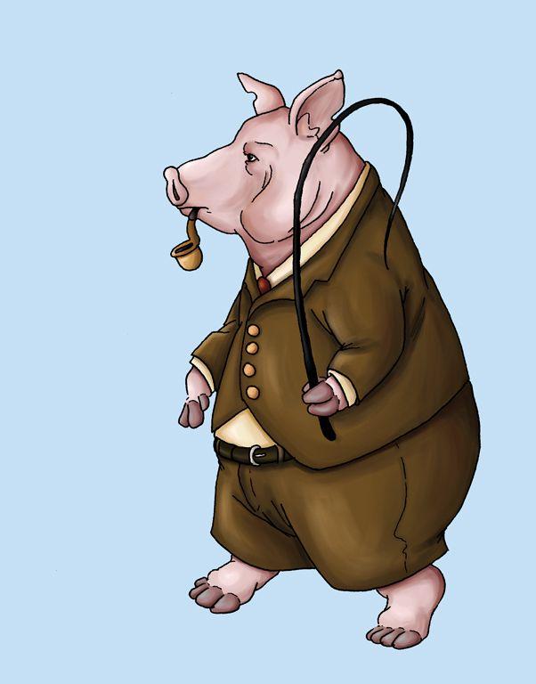 Animal Farm Pig 1 By Ursusarctos On Deviantart Animal Farm George Orwell Pig Farming Pig Art