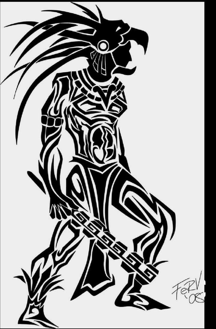 Pin By Angel On Ndn Stuff Aztec Warrior Tattoo Warrior Tattoos Aztec Tattoo Designs