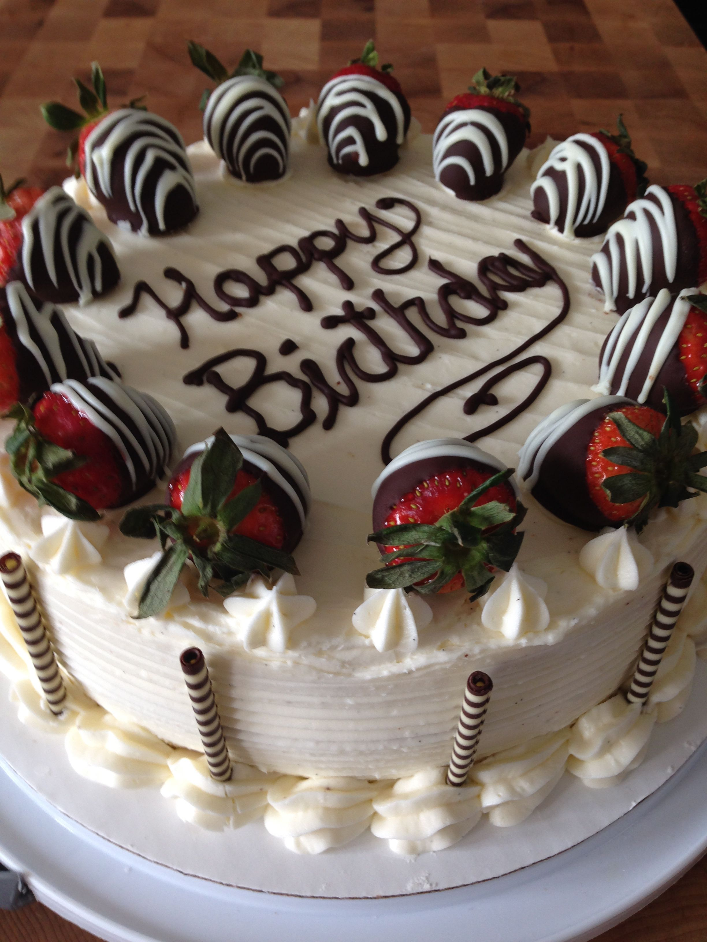 Vanilla Bean Cake With Strawberry Marscapone Filling And Fresh