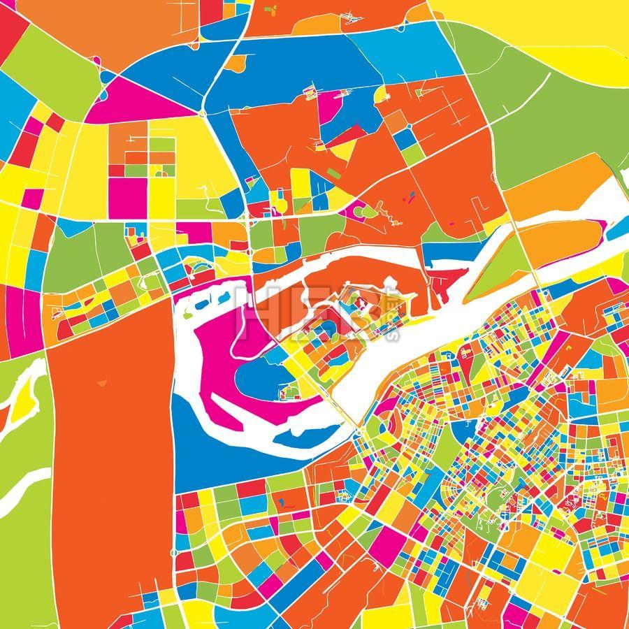 Harbin china colorful vector map harbin harbin china colorful vector map gumiabroncs Image collections