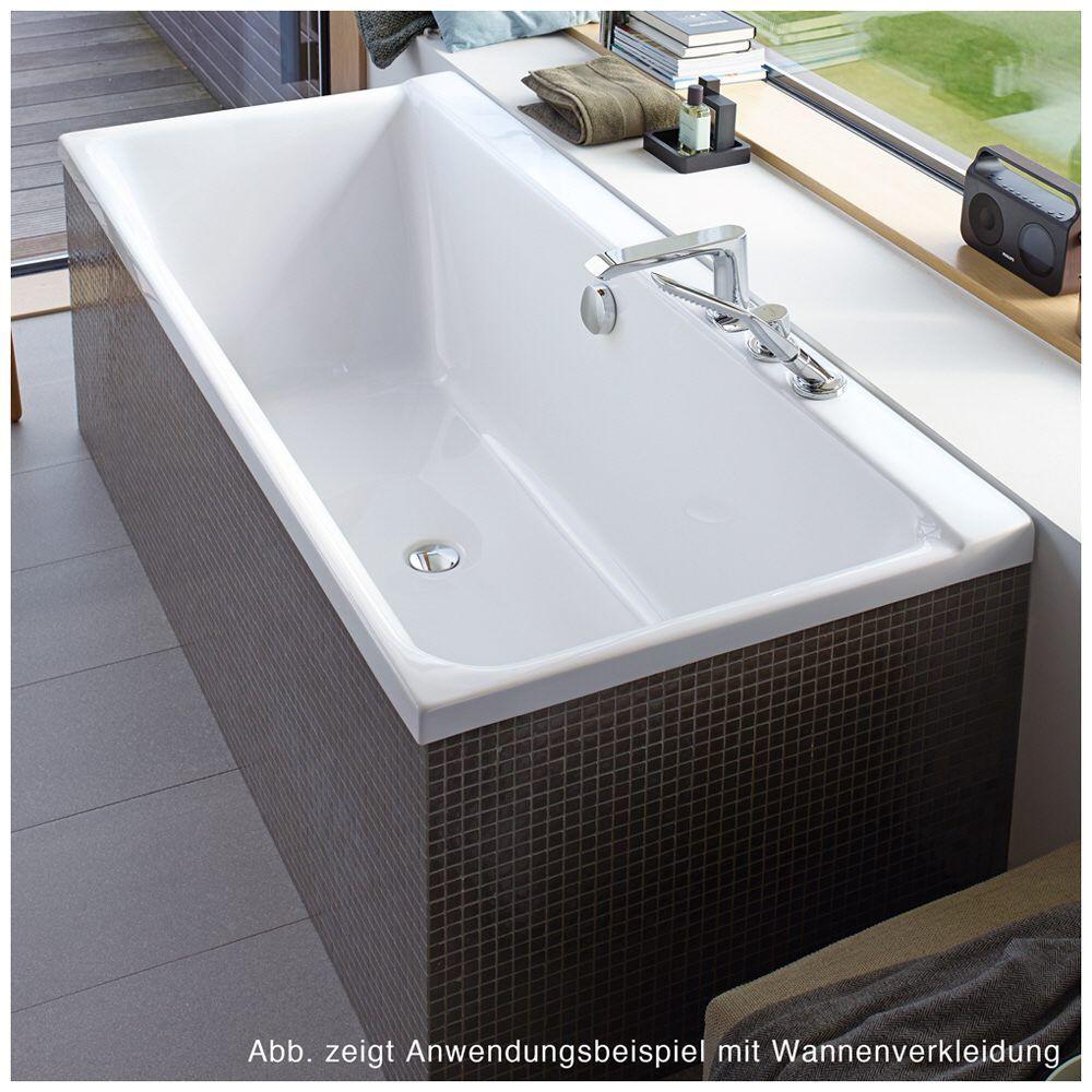 Badewanne Schräg duravit p3 comforts badewanne rechteck 190 x 90 cm mit 2 schrä
