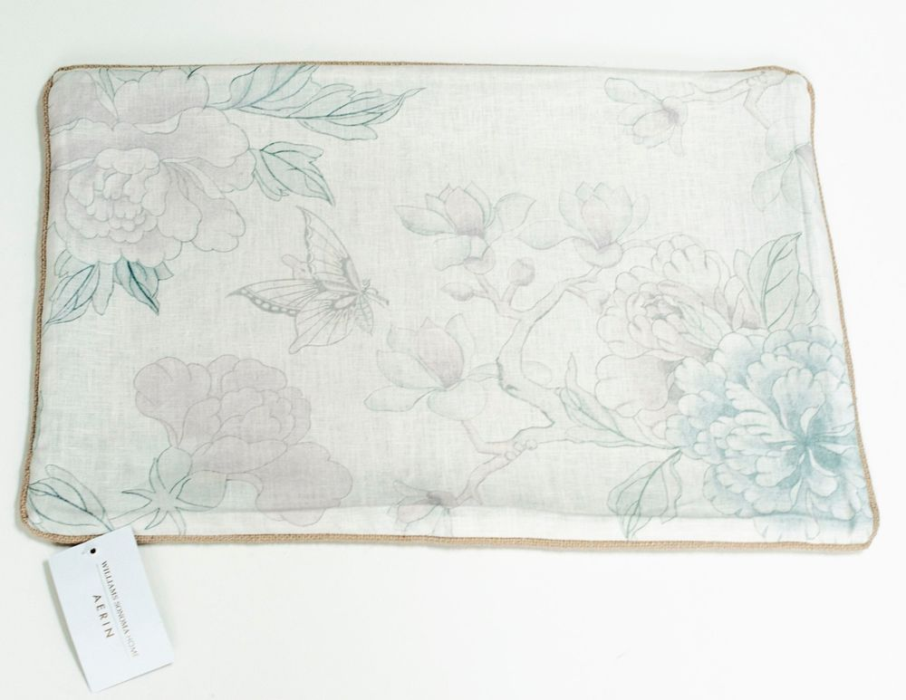 New Aerin Lauder Williams Sonoma Home Wild Rose Linen Pillow Cover 14x22 Linen Pillow Covers Linen Pillows Pillow Covers