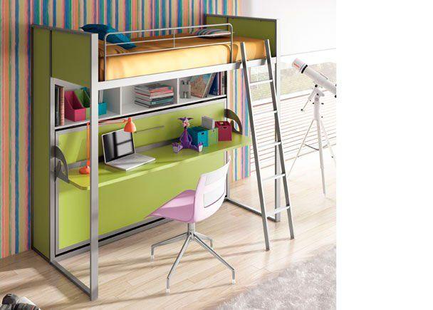 Habitación Infantil Con Cama Abatible Horizontal Fija Kids Room