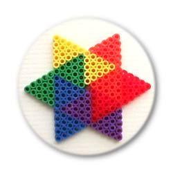 Bügelperlen Regenbogen Stern Vorlagen Für Bügelperlen