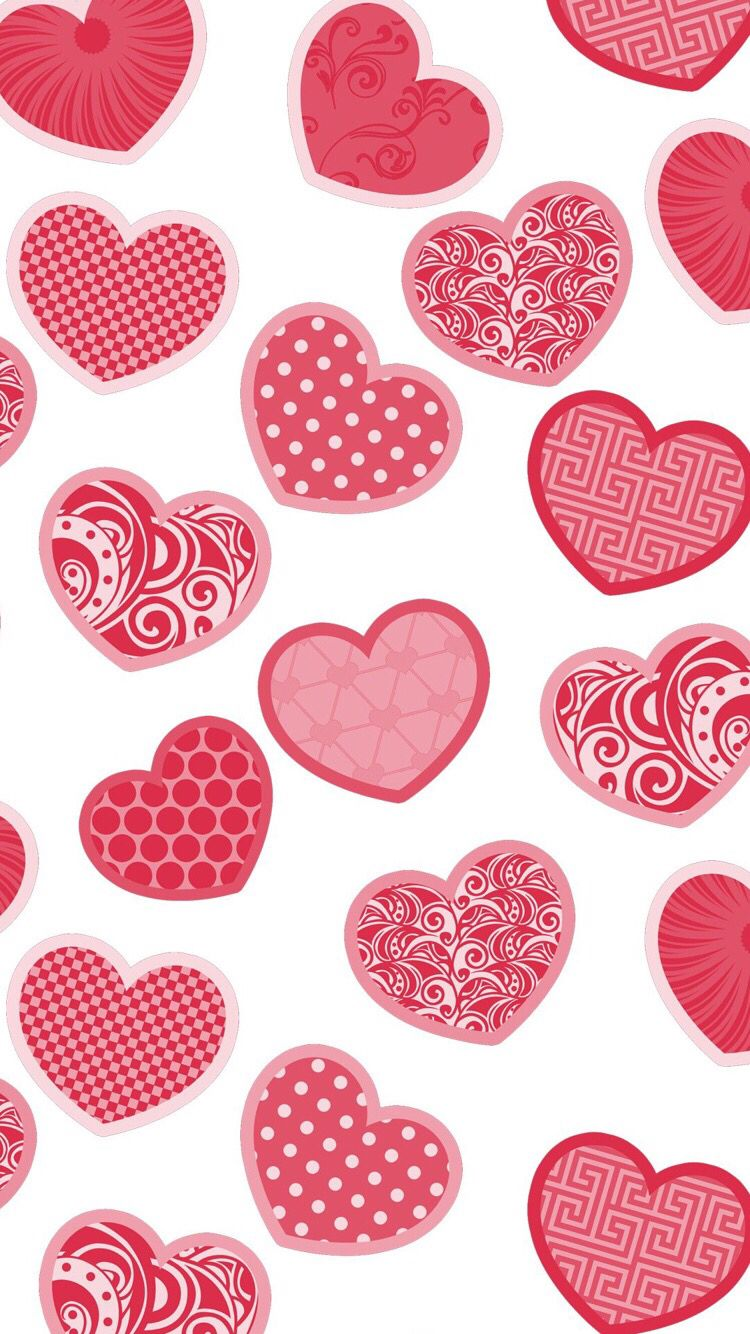 Zedge App Holiday Wallpaper Scrapbook Paper Heart Red Hearts Background Patterns