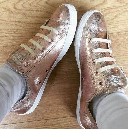 Converse All Star Dainty Rose Gold Metallic Trainers