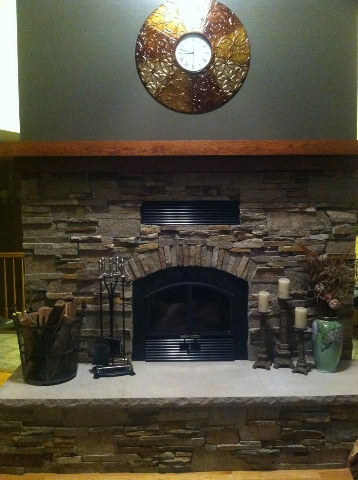 Virginia ledgestone fireplace Boulder Colorado | Rustic Modern ...